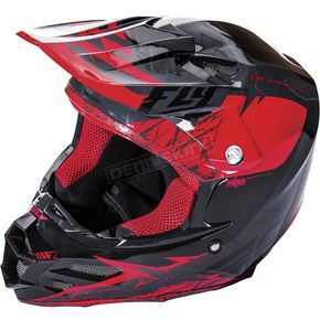 Fly Racing Red/Black F2 Carbon MIPS Retrospec Helmet - 73-4222L
