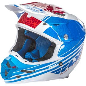 Fly Racing Blue/White/Red F2 Carbon Animal Helmet - 73-41422X