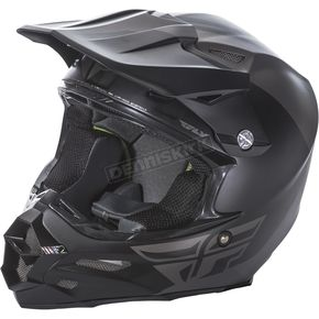 Fly Racing Matte Gray/Black F2 Carbon Pure Helmet - 73-4130S