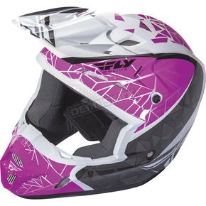 Fly Racing Pink/Black/White Kinetic Crux Helmet - 73-3389XS