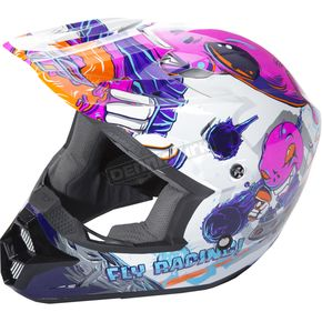 Fly Racing Youth Pink Kinetic Invasion Helmet - 73-3452YM