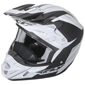 Fly Racing Matte White/Black Kinetic Pro Cold Weather Helmet - 73-4935M