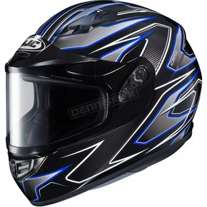 HJC Black/Gray/Blue CS-R3 Spike MC-2 Snow Helmet w/Framed Dual Lens Shield - 55-19126