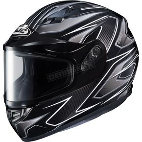 HJC Flat Black/Gray/Silver CS-R3 Spike MC-5 Snow Helmet w/Framed Dual Lens Shield - 55-19158