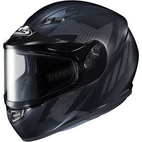 HJC Flat Black/Gray CS-R3 Treague MC-5F Snow Helmet w/Framed Dual Lens Shield - 55-19254