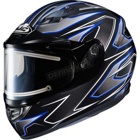 HJC Black/Gray/Blue CS-R3 Spike MC-1 Snow Helmet w/Framed Electric Shield - 55-29122