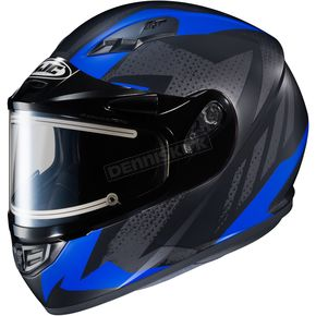 HJC Flat Black/Gray/Blue CS-R3 Treague MC-2F Snow Helmet w/Framed Electric Shield - 55-29228