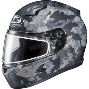 HJC Flat Dark Gray/Light Gray CL-17SN Void MC-5F Snow Helmet w/Frameless Dual Lens Shield - 57-19656