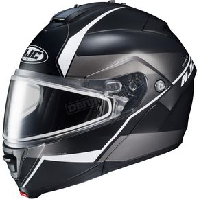 HJC Semi-Flat Black/Gray/Silver IS-MAX 2 Mine MC-5SF Snow Helmet w/Frameless Dual Lens Shield - 58-13752