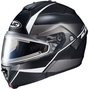 HJC Semi-Flat Black/Gray/Silver IS-MAX 2 Mine MC-5SF Snow Helmet w/Frameless Electric Shield  - 58-23756