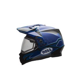 Bell Helmets Gloss Blue/Matte Black MX-9 Adventure Blockade Snow Helmet w/Dual Lens Shield  - 7075944