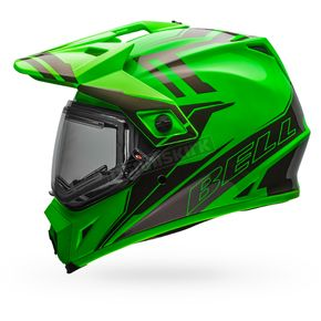 Bell Helmets Green/Titanium MX-9 Adventure Barricade Snow Helmet w/Electric Shield - 7090648