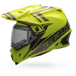 Bell Helmets Yellow/Titanium MX-9 Adventure Barricade Snow Helmet w/Electric Shield - 7075803