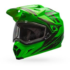 Bell Helmets Green/Titanium MX-9 Adventure Barricade Snow Helmet w/Dual Lens Shield  - 7075957