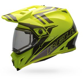 Bell Helmets Yellow/Titanium MX-9 Barricade Snow Helmet w/Dual Lens Shield  - 7075993