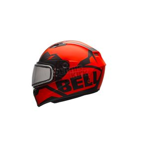 Bell Helmets Matte Orange/Black Qualifier Momentum Snow Helmet w/Dual Lens Shield - 7076082