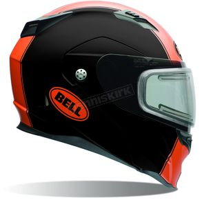 Bell Helmets Matte Black/Orange Revolver EVO Rally Snow Helmet w/Electric Shield - 7076239