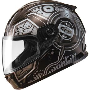 GMax Youth Black/Silver GM49 DJ Snow and Street Helmet w/Two Shields - G7492241 TC-5