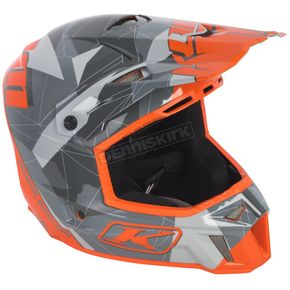 Klim Gray/Orange Camo F3 Helmet - 3110-000-170-003