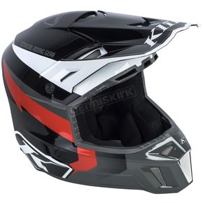 Klim Black/Gray Red Lightning F3 Helmet - 3110-000-120-004