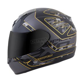 Scorpion Black/Gold EXO-R410 Convoy Helmet - 41-1212