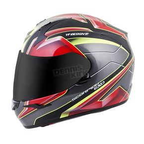 Scorpion Red/Yellow EXO-R410 Kona Helmet - 41-1312