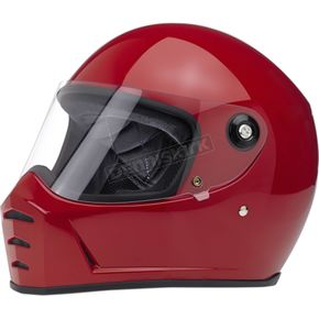 Biltwell Gloss Blood Red Lane Splitter Helmet - LSREDGLECEXXL