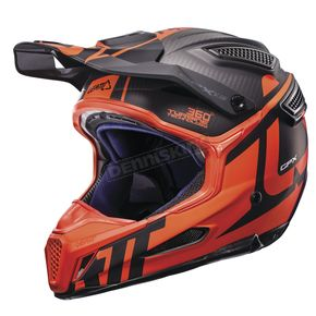 Leatt Black/Orange GPX 6.5 Carbon V16 Helmet - 1017110014