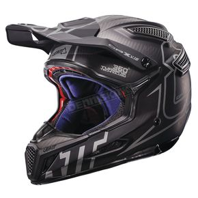 Leatt Black/Silver GPX 6.5 Carbon V16 Helmet - 1017110025
