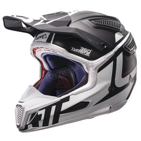 Leatt Black/White GPX 6.5 Carbon V16 Helmet - 1017110030