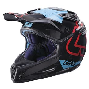 Leatt Black/Blue GPX 5.5 Composite V15 Helmet - 1017110432