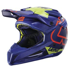Leatt Blue/Lime GPX 5.5 Composite V15 Helmet - 1017110460