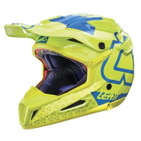 Leatt Lime/Blue GPX 5.5 Composite V15 Helmet - 1017110472