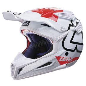 Leatt White/Red GPX 5.5 Composite V15 Helmet - 1017110495