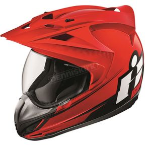 Icon Red Variant Double Stack Helmet - 0101-10022