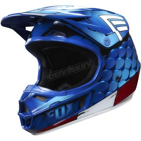 Fox Youth Captain America V1 Helmet - 19975-002-S