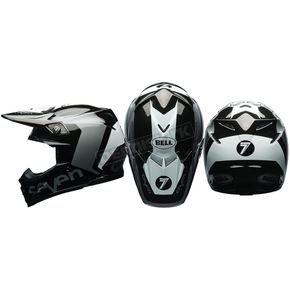 Bell Helmets Black/Chrome Moto-9 Flex Seven Rogue Helmet - 7081383