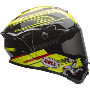 Bell Helmets Black/Yellow Star Isle of Man Helmet - 7081473