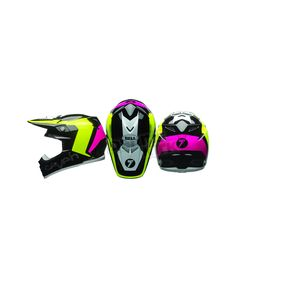 Bell Helmets Black/Fluorescent Yellow Moto-9 Flex Seven Rogue Helmet - 7081562