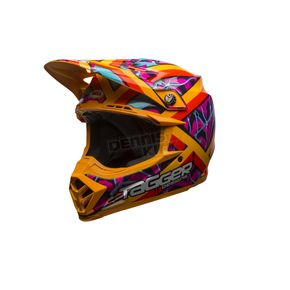 Bell Helmets Orange/Red/Pink Moto-9 Tagger Designs LE Helmet - 7084351