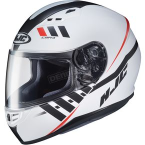 HJC Semi-Flat White/Black/Red CS-R3 Space MC-10SF Helmet - 136-702