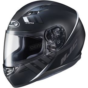 HJC Semi-Flat Black/White CS-R3 Space MC-5SF Helmet - 136-756