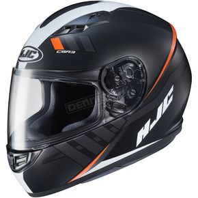 HJC Semi-Flat Black/White/Red CS-R3 Space MC-7SF Helmet - 136-774