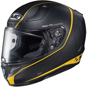 HJC Semi-Flat Black/Yellow RPHA-11 Pro Riberte MC-3SF Helmet - 1652-304