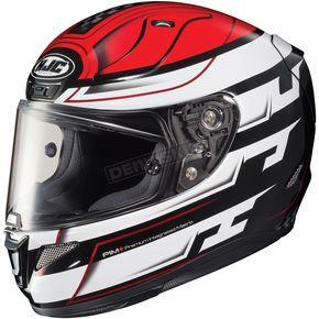HJC White/Black/Red RPHA-11 Pro Skyrym MC-1 Helmet - 1654-915