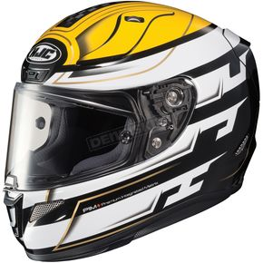 HJC White/Black/Yellow RPHA-11 Pro Skyrym MC-3 Helmet - 1654-934