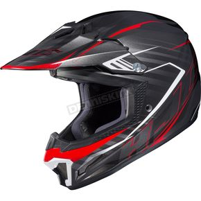 HJC Black/Red CL-XY II Youth Blaze MC-1 Helmet - 292-912