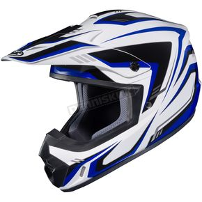 HJC White/Blue/Black CS-MX II Edge MC-2 Helmet - 326-923