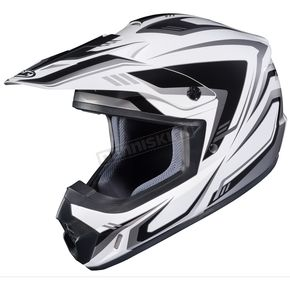 HJC White/Black/Gray CS-MX II Edge MC-5 Helmet - 326-955