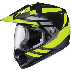 HJC Neon Green/Black DS-X1 Lander MC-3H Helmet - 512-931